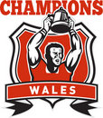 Rugby player champions cup Wales Royalty Free Stock Photo