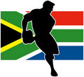 Rugby player flag of South Africa Royalty Free Stock Photos