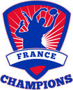 Rugby Player France  Champions Stock Photo