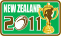 Rugby player new zealand 2011 Royalty Free Stock Image