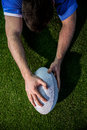 A rugby player scoring a try Royalty Free Stock Photo