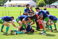 Rugby players from portugal train moscow june on second stage of european championship on in sports complex luzhniki on june Stock Photos