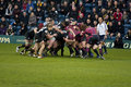 Rugby scrum Royalty Free Stock Photos