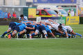 Rugby scrum Royalty Free Stock Photo