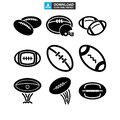 Rugby sport icon or logo isolated sign symbol vector illustration