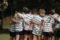 Rugby team huddle Royalty Free Stock Photography