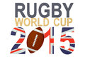 Rugby world cup great britain concept isolated on white background Royalty Free Stock Images