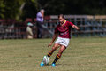 Rugbyaktion spieler highschool der teams der reifen jungen männer zwischen paul roos gymn und glenwood jungen highschool am Stockfoto