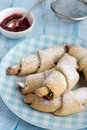 Rugelach with Raspberry jam filling Royalty Free Stock Photography