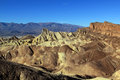 Rugged barren terrain zabriske point death valley national park Stock Image