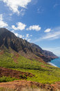 Rugged coast a scenic landscape view of the na pali on the hawaiian island of kauai Royalty Free Stock Photo