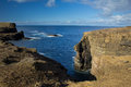 Rugged coastal features west coast of orkney s mainland Stock Photography