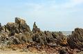 Rugged Coastline Arambol Beach in Goa India Royalty Free Stock Photo