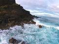 Rugged coastline beautiful and of hawaii Stock Photo