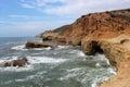 Rugged Coastline - Cabrillo National Monument Royalty Free Stock Photo
