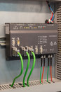 Rugged industrial ethernet communication in automation process Royalty Free Stock Photography