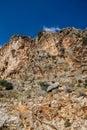 Rugged island mountain landscape from the coastal highway near xantos turkey Stock Photography