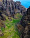 The Rugged Landscape of the Napali Coast of Kauai, Hawaii Royalty Free Stock Photo