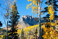 Rugged mountains in fall colorado Stock Photography
