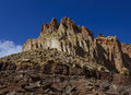 Rugged Rocks and Spires - The Golden Thrown Stock Photos