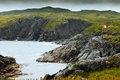 Rugged rocky coastal landscape Newfoundland Canada Royalty Free Stock Photo