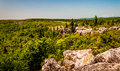 The rugged, rocky terrain of Bear Rocks, in Dolly Sods Wildernes Royalty Free Stock Photo
