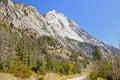 Rugged sandstone mountain peaks Stock Photo