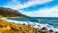 The rugged shoreline near Llandudno along the Twelve Apostles Royalty Free Stock Photo