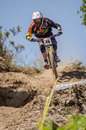 Rui domingues gois portugal june during the th stage of the taca de portugal downhill vodafone on june in gois portugal Stock Images
