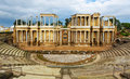 Ruin of Antique Roman Theatre Royalty Free Stock Photo