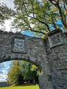 Ruin arch gate in the forest