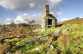 Ruin on bodmin moor a ruined building at carbilly quarry in cornwall Stock Photos
