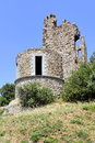 Ruin castle of grimaud in france commune the var department the provence alpes c te d azur region southeastern Stock Image