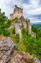 Ruin of castle Lietava Royalty Free Stock Photo