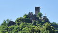 Ruin castle metternich near beilstein at river moselle in the rhineland palatinate in germany Royalty Free Stock Image