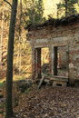 Ruin in forest tercino udoli czech republic Stock Image