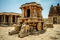 Ruin in hampi beautiful temple and india Stock Image