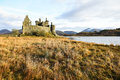 The ruin of kilchurn castle loch awe scotland highland mountains and Royalty Free Stock Image