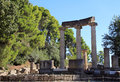 Ruin of philippaeum the temple of philip in olympia greece Stock Image