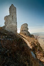 Ruin of plavecky castle in slovakia Stock Photography