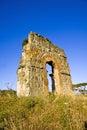 Ruin of the roman acqueduct acqua claudia in parco degli acquedotti in rome italy Stock Photo