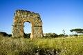 Ruin of the roman acqueduct acqua claudia in parco degli acquedotti in rome italy Royalty Free Stock Images