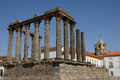 Ruin of roman antic temple portugal Royalty Free Stock Images