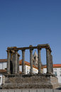 Ruin of roman antic temple portugal Royalty Free Stock Photo