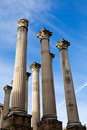 Ruin of the Roman temple in Cordoba, Spain Royalty Free Stock Images
