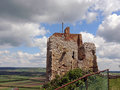 Ruin staatz fortification of the castle ruins one of the last vestiges Royalty Free Stock Images