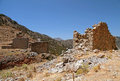 Ruin windmills in the mountains, Lassithi, Crete(Greece) Royalty Free Stock Photography