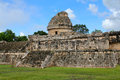 Ruined ancient mayan observatory chichen ytza mexico Stock Photography