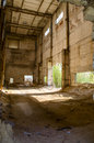 Ruined brick factory old abandoned Royalty Free Stock Photo