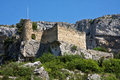 Ruined Castle at Fontaine-de-Vaucluse Stock Photos